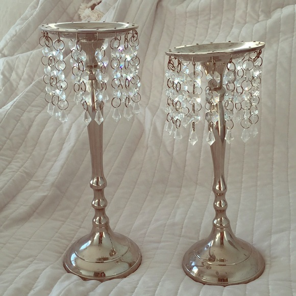 Other - Silver candle holders